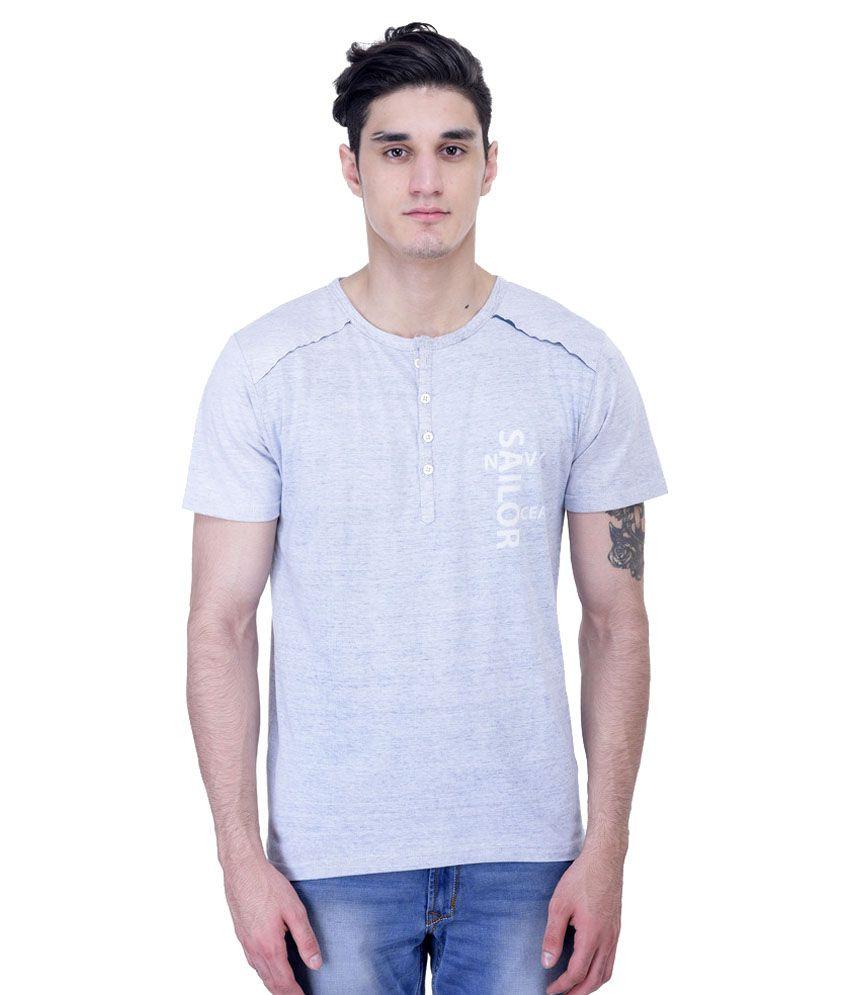 John Caballo Grey Henley T-Shirt