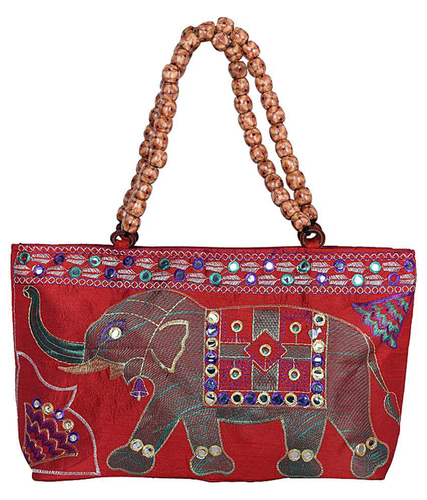 Magnus Red Fabric Shoulder Bag