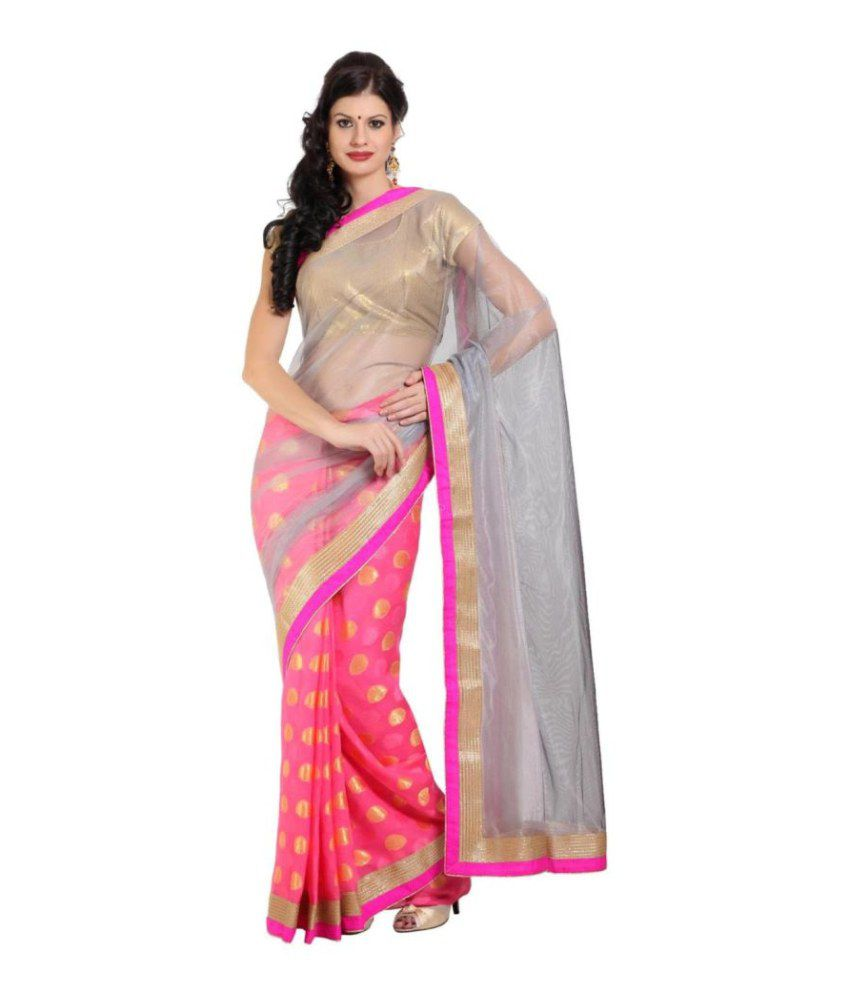 Parchayee Multicoloured Net Saree