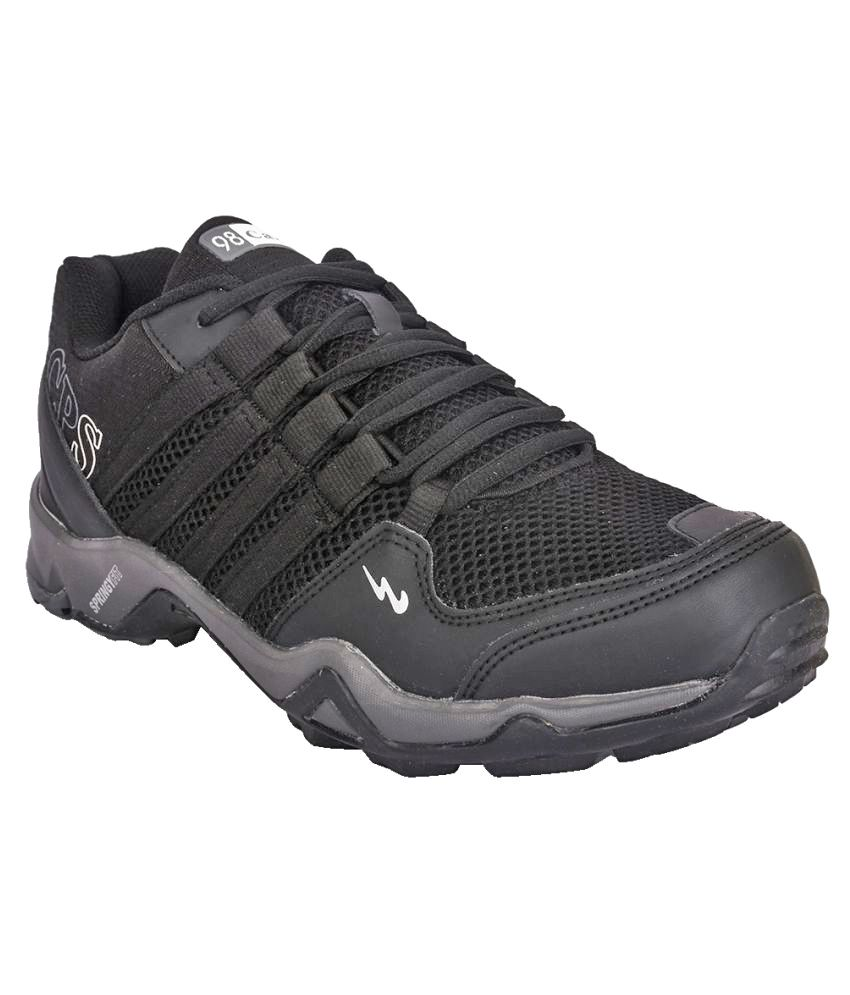 Campus TRIGGEER Black Running Shoes