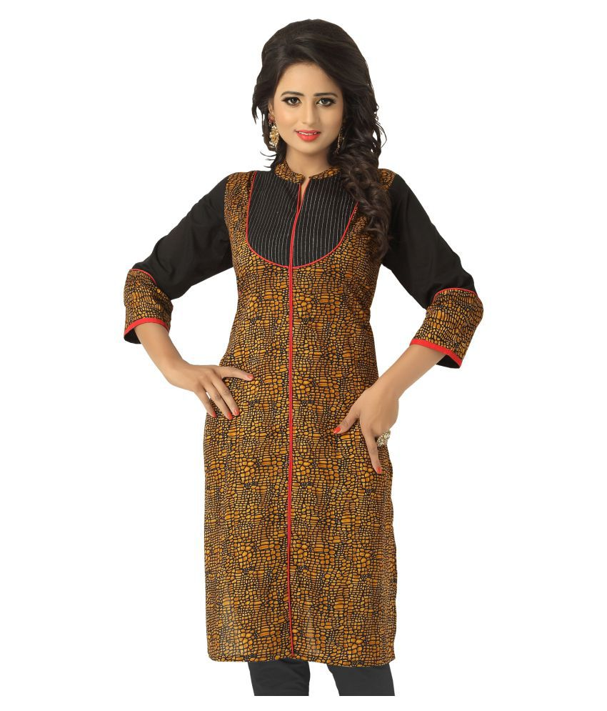 Lovely Look Multicoloured Cotton Straight Kurti