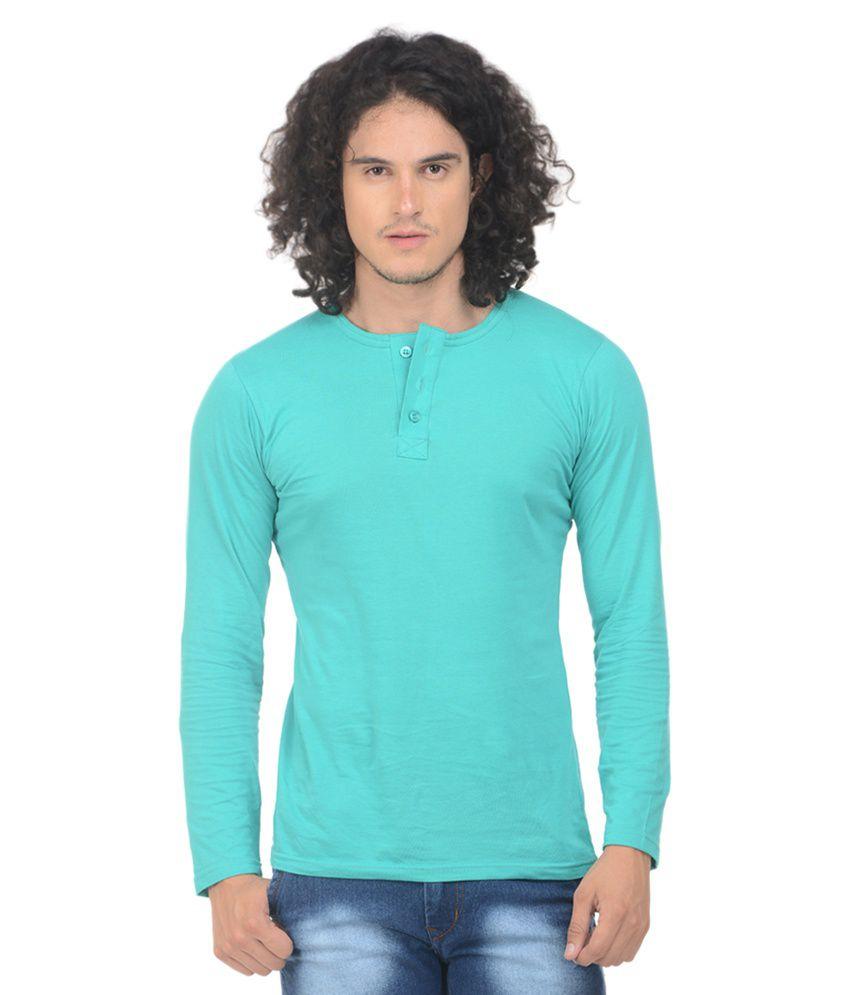 Vrgin Turquoise Henley T-Shirt