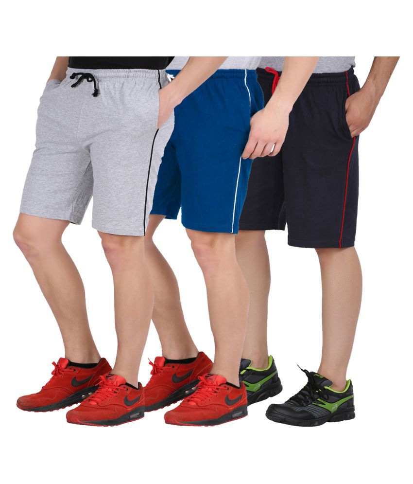 Checkersbay Multi Shorts Pack of 3