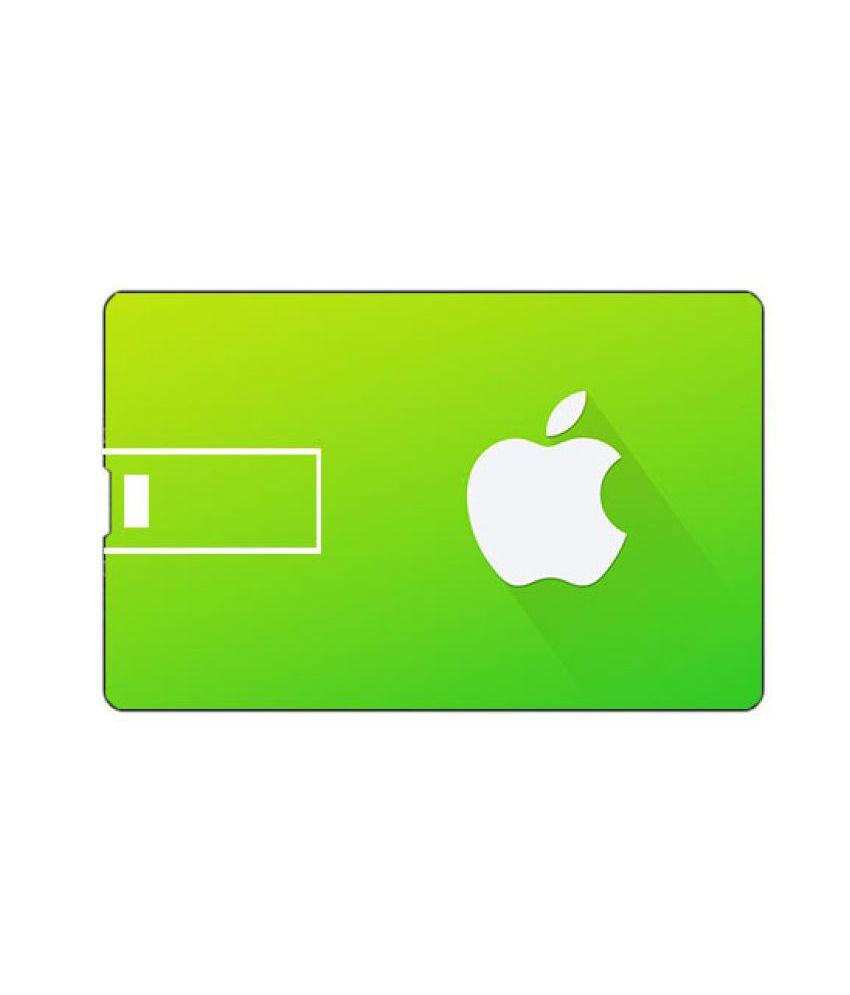 Vublee Credit Card Shape 32GB USB 2.0 Fancy Pendrive Green