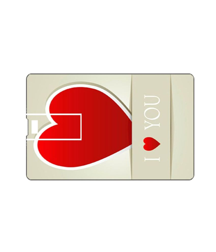 Youberry Credit Card Shape 32GB USB 2.0 Fancy Pendrive Multicolour