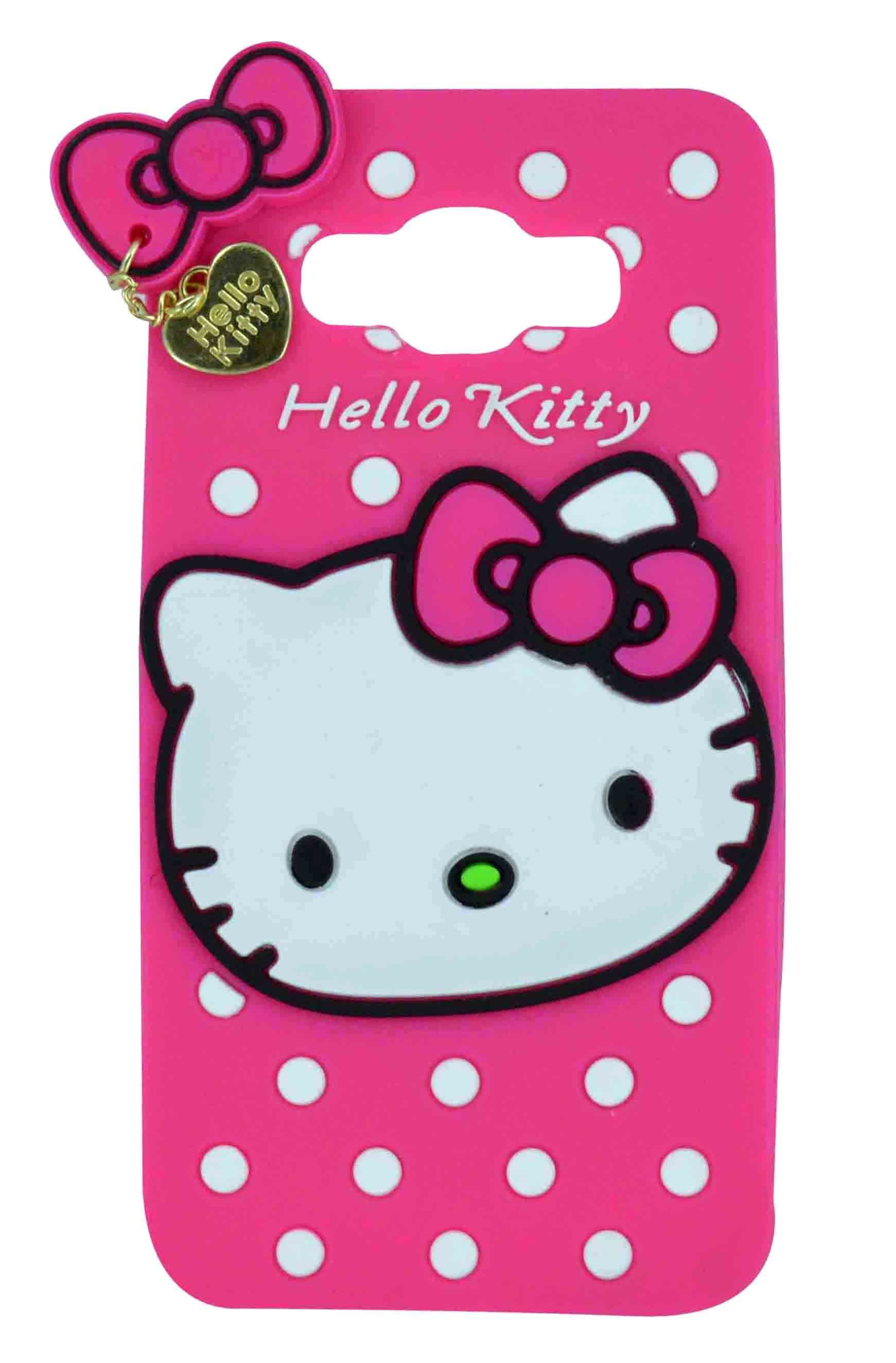 Style Imagine 3D Designer Hello Kitty Back Cover For Samsung Galaxy J5 2016 Pink