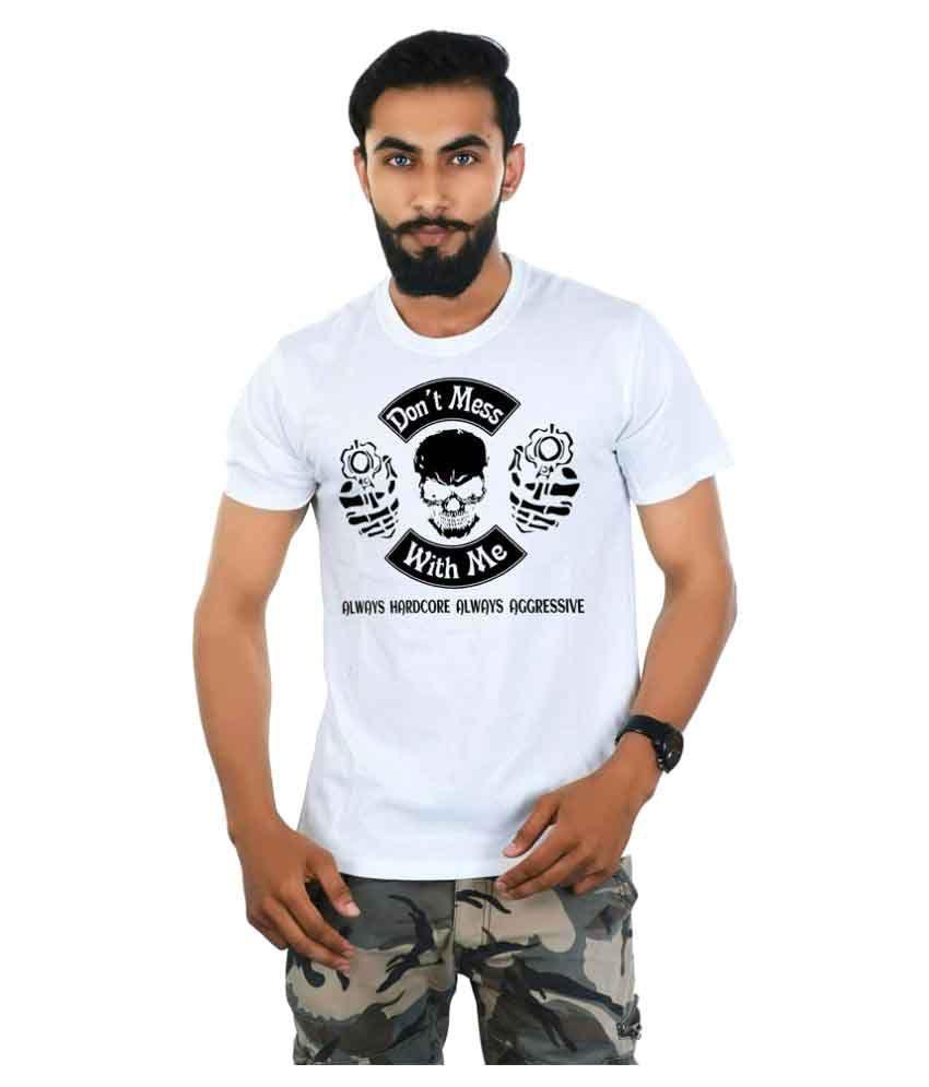 Das Marino White Round T-Shirt