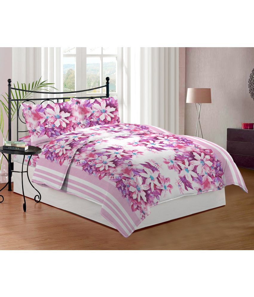 bombay dyeing coral vine printed double bedsheet