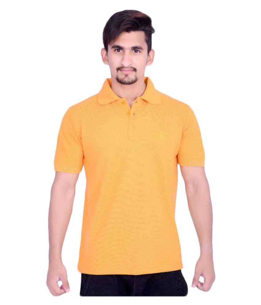 Cult Clothing Company Orange Cotton Blend Polo T-Shirt Single Pack
