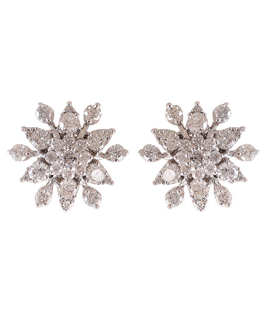 Jisha 18k BIS Hallmarked Gold Diamond Studs