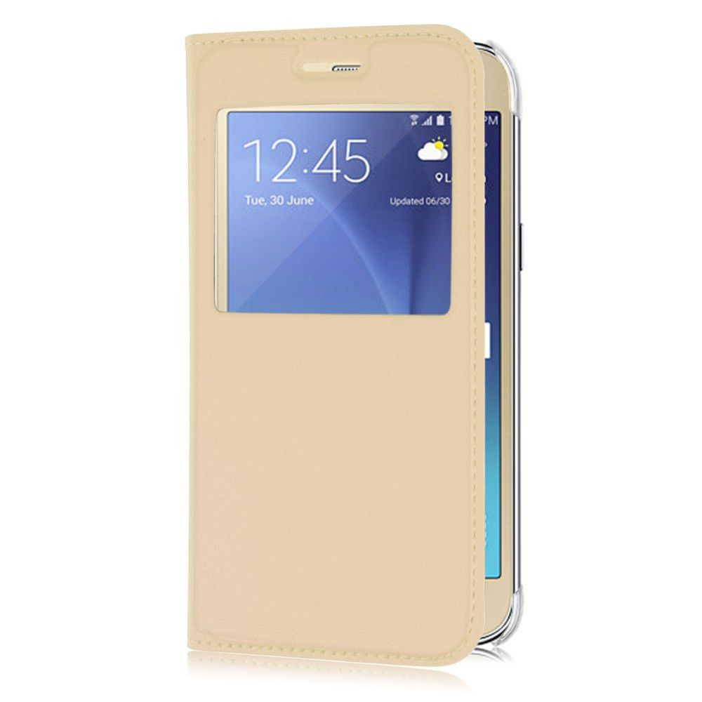 separation shoes c1dfd 33293 Samsung Galaxy J2 Pro Flip Cover by Mercator - Golden