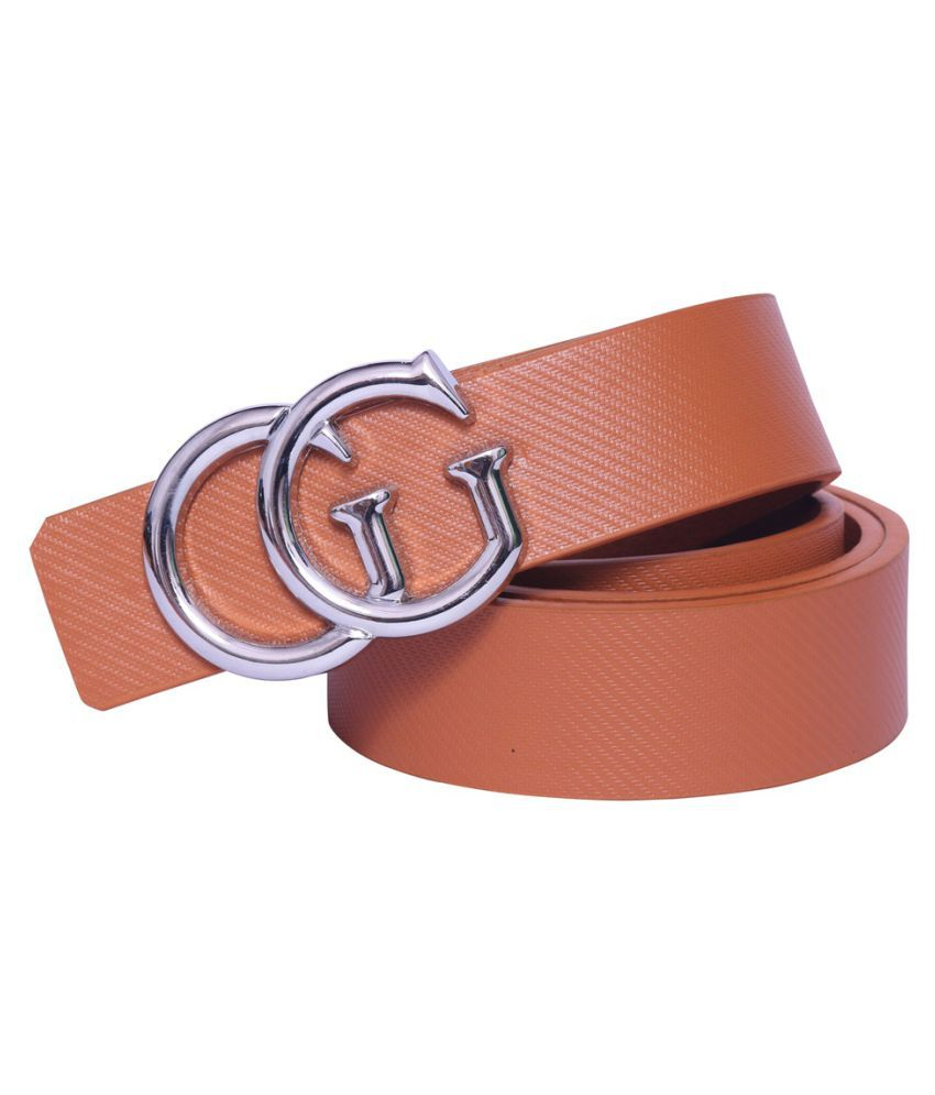 Daller Tan Artificial Leather Casual Belts
