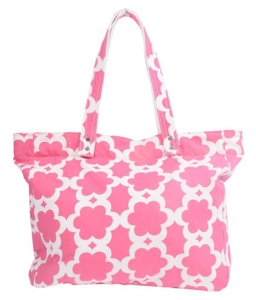 Hve Pink Canvas Shoulder Bag