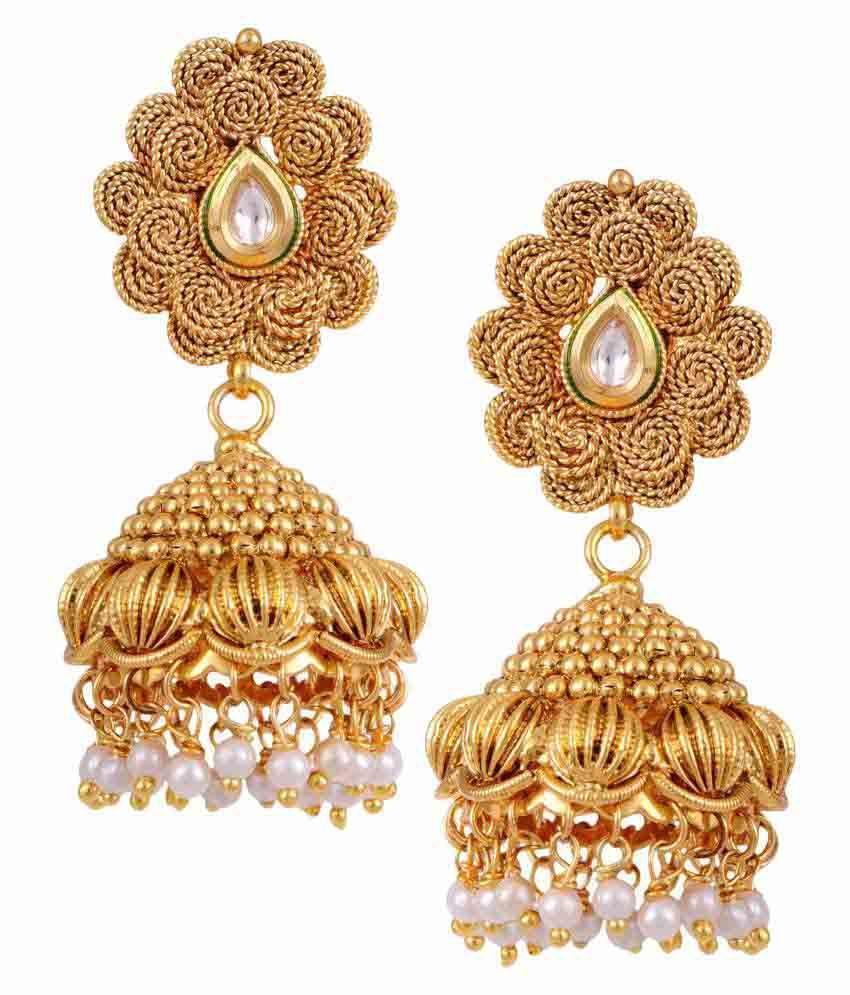 Hyderabad Jewels Golden Jumkies