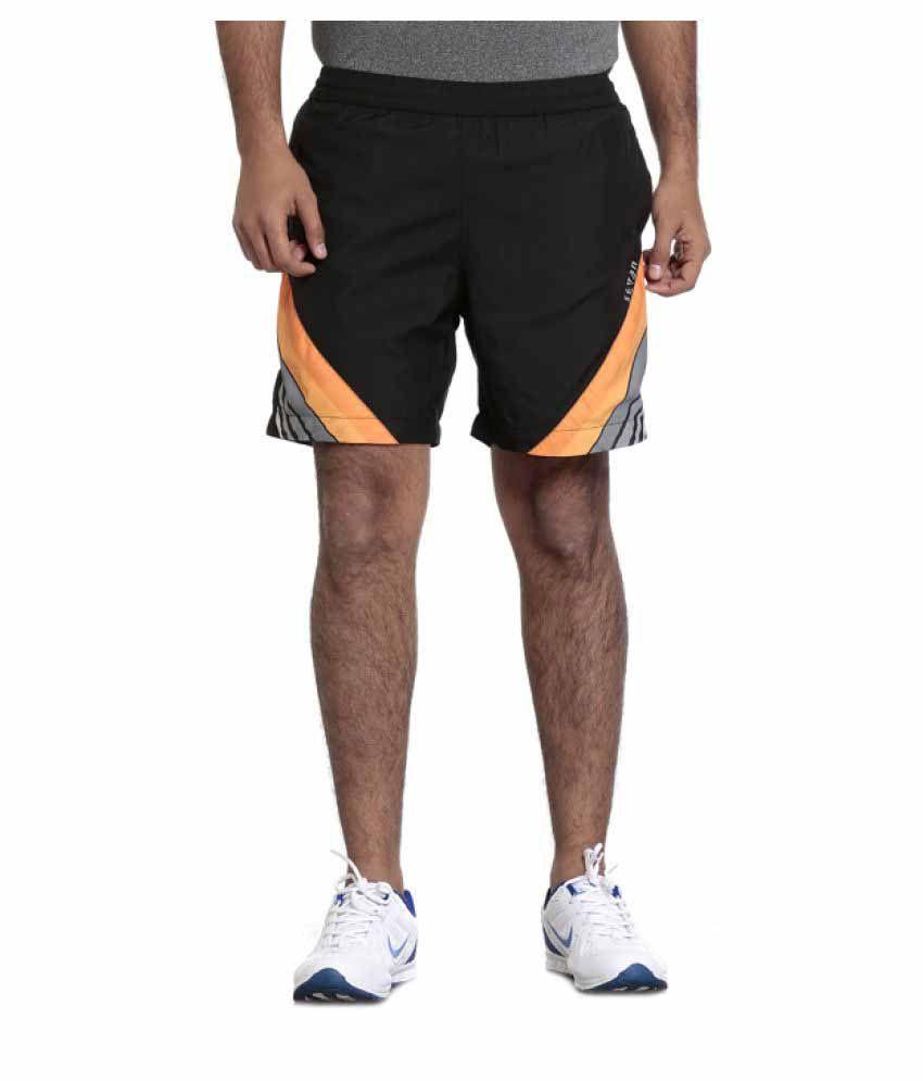 Seven Black Polyester Shorts