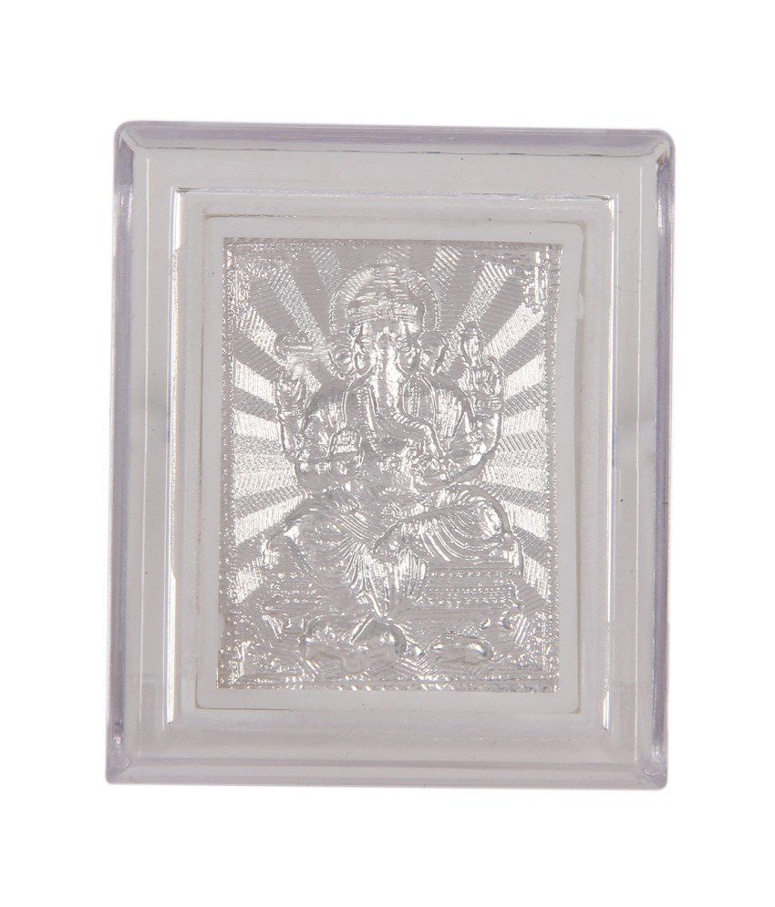 Silverwala Plastic TableTop Silver Single Photo Frame