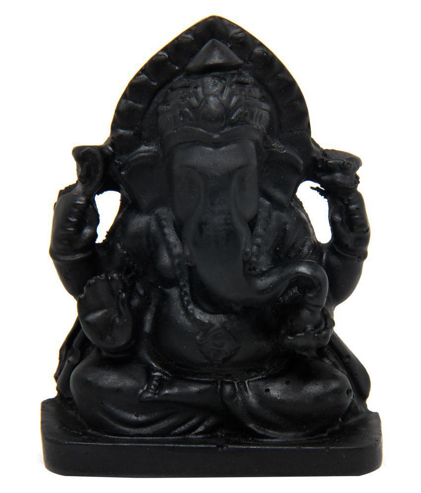 The Nodding Head Ganesha Polyresin Idol