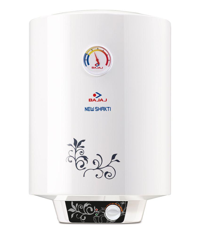 Bathroom water heater price - Bajaj New Shakti 25 Liter 4 Star 2000 W Vertical Water Heater