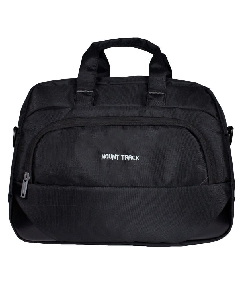 Mount Track Black Nylon Office Bag