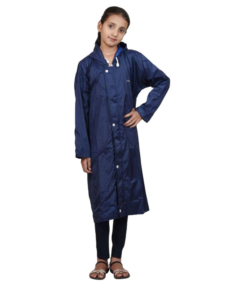 Versalis Blue Polyester Raincoat