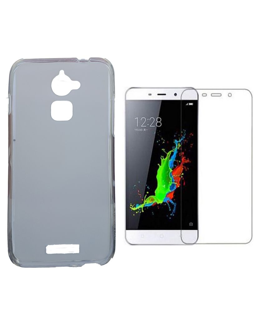 Mocell soft back cover for coolpad note 3 lite With Tempered Glass Screen Protector