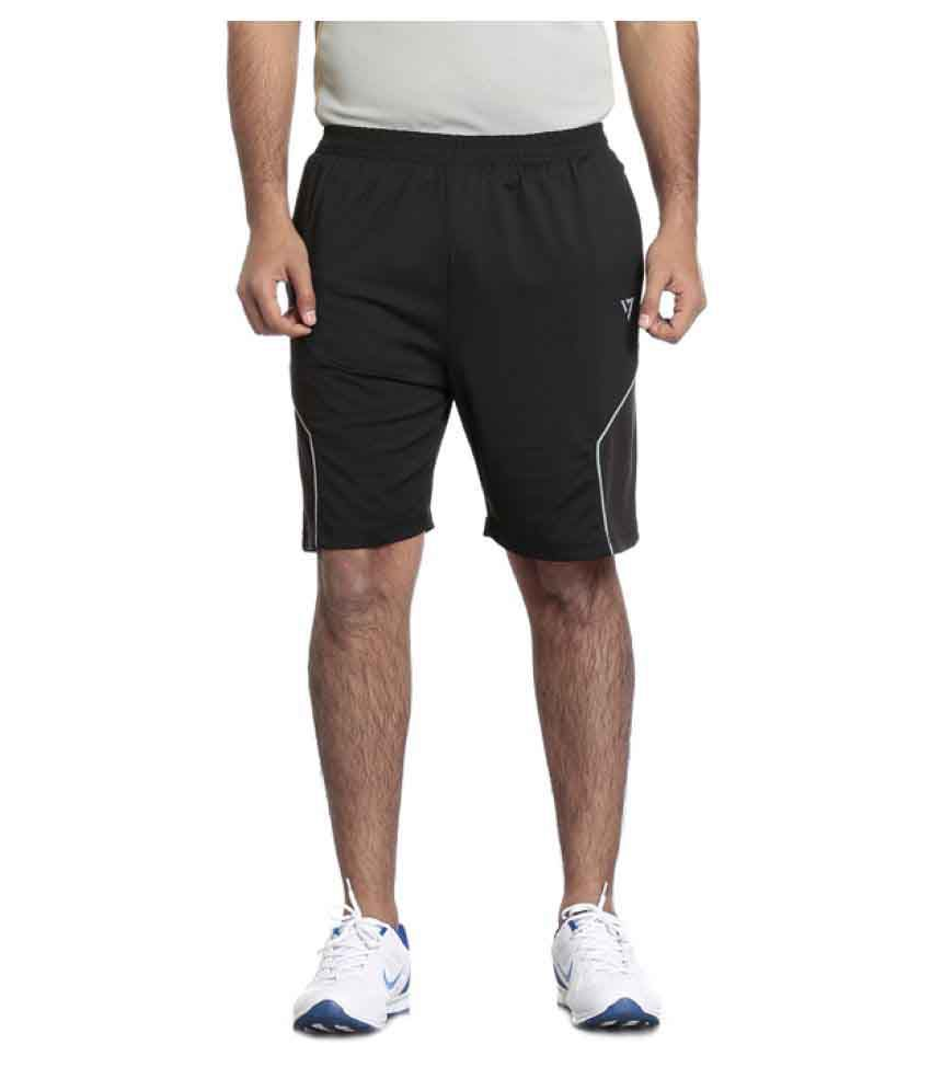 Seven Black Polyester Shorts