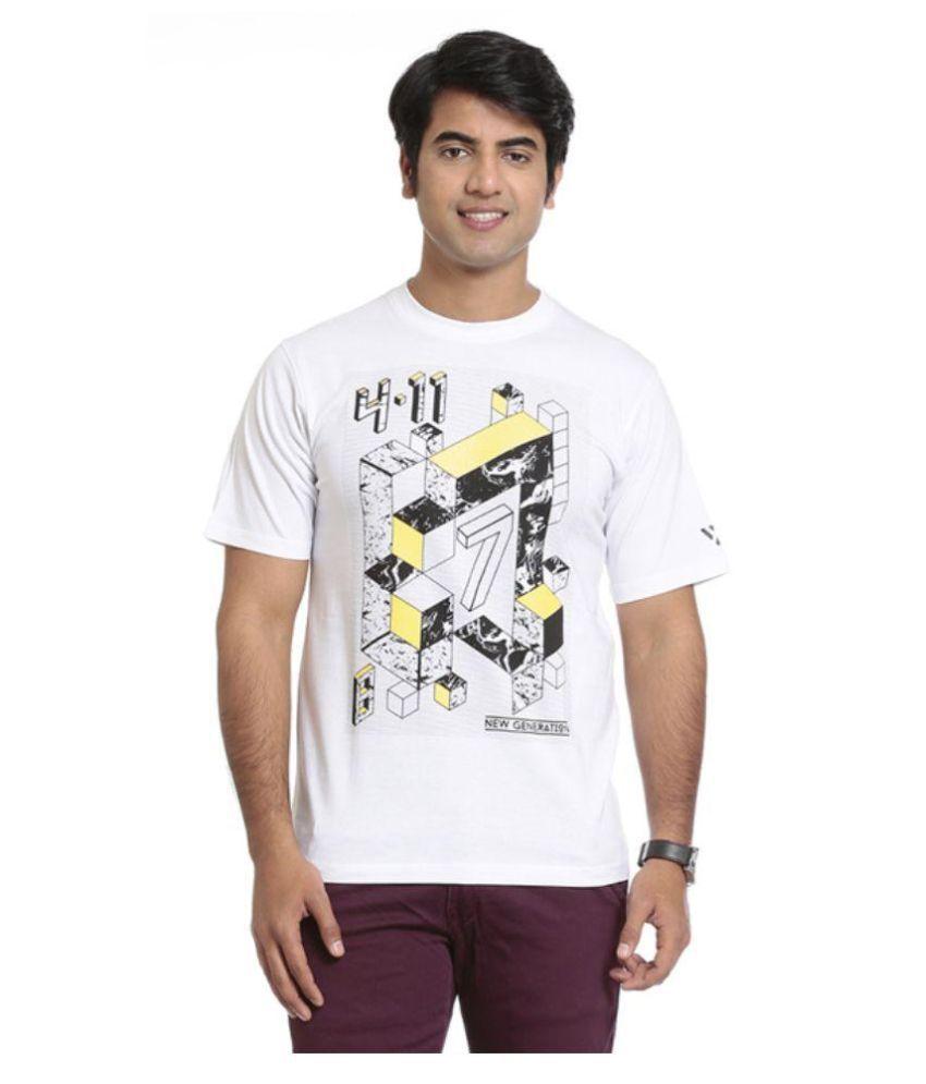 Seven White Polyester T-Shirts