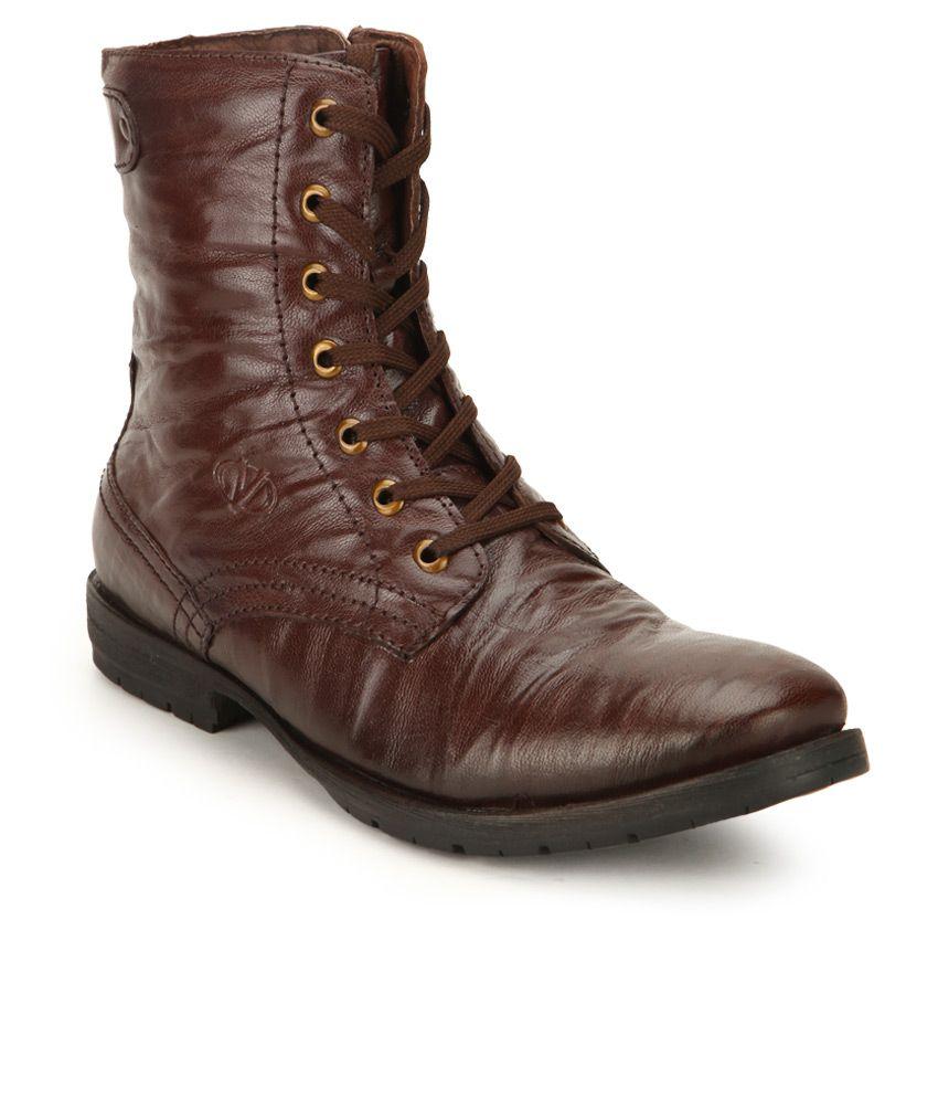 Valentino ROCKSTAR-98 Brown Boots