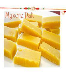 Ghasitaram Gifts Rakhi Gifts Sweets - Soft Mysore Pak 200 Gm With Rakhi- R2