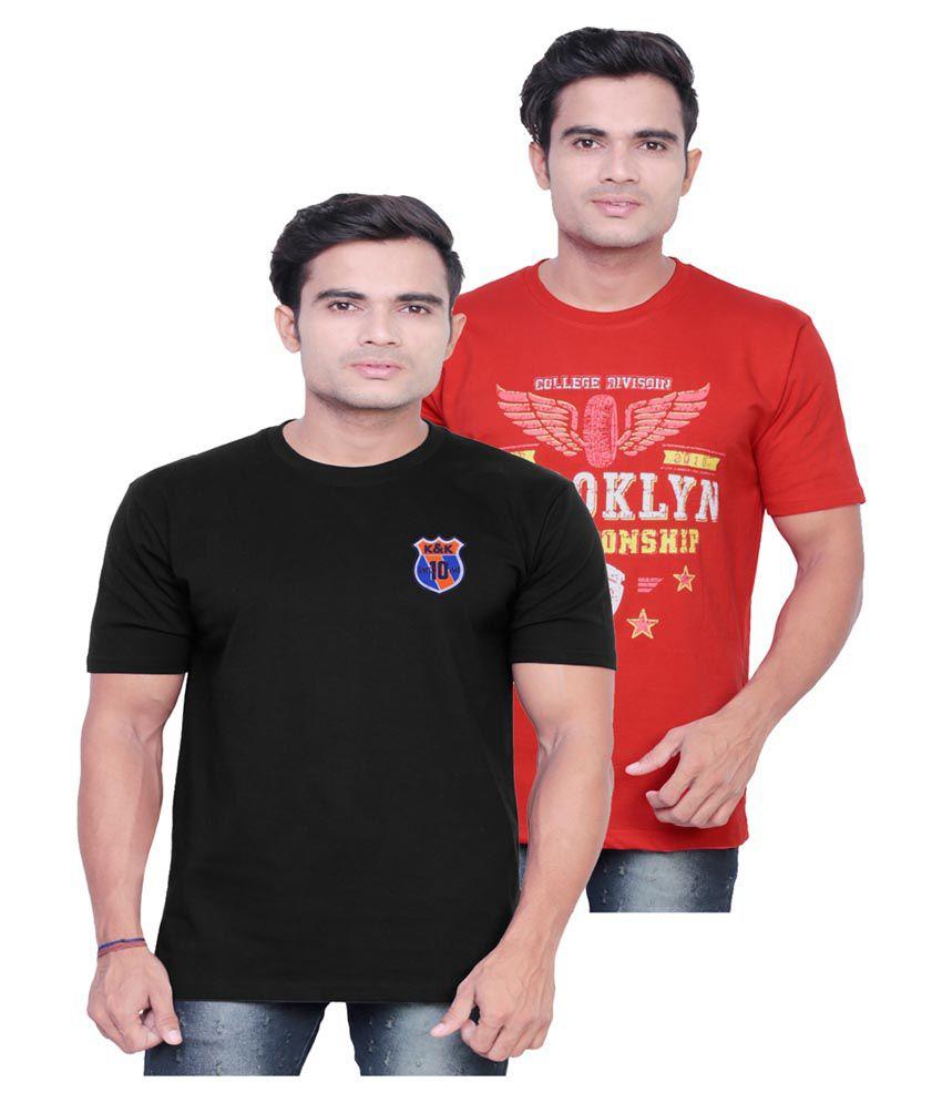 Fashionable Multi Round T-Shirt