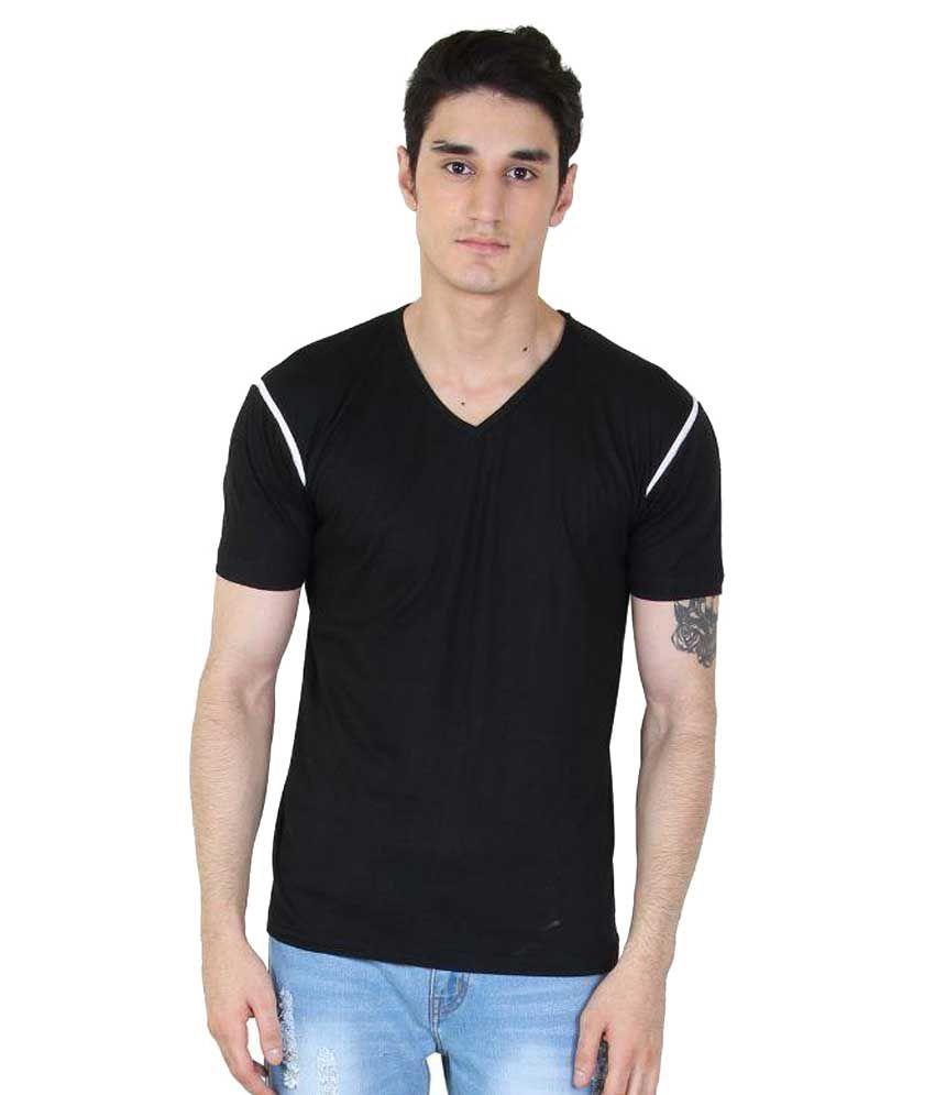 Fenoix Black V-Neck T-Shirt
