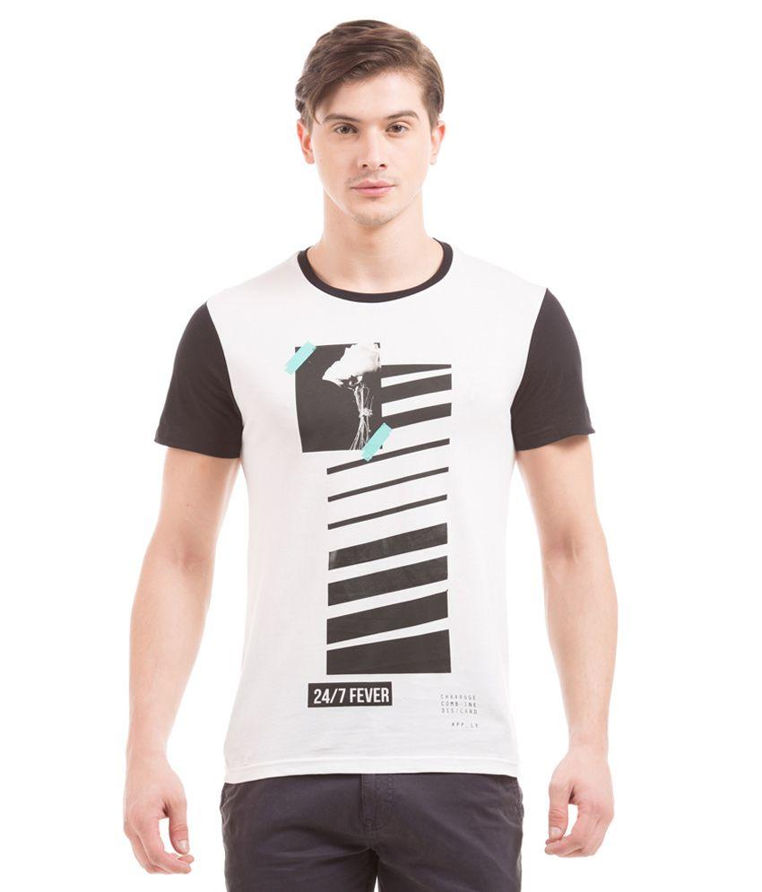 Prym Off-White Round Half Printed T-Shirt