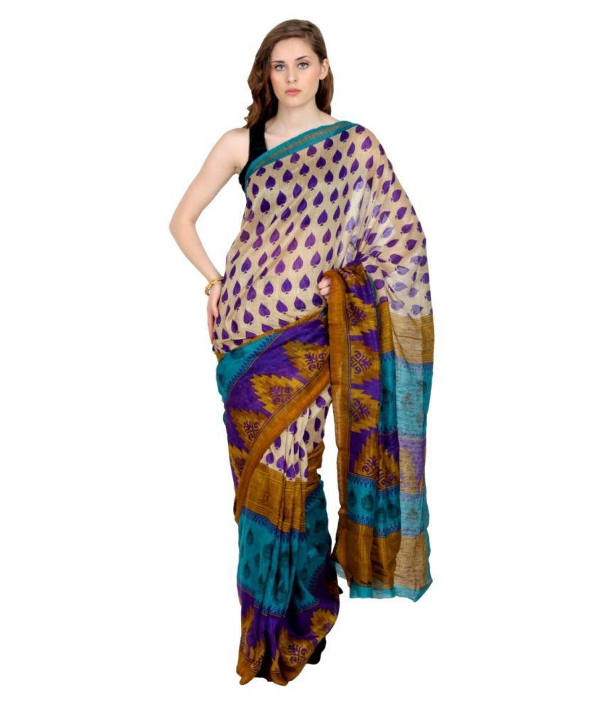 Parchayee Multicoloured Art Silk Saree