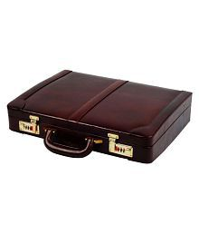 Zint Pure Leather Brown M Briefcase