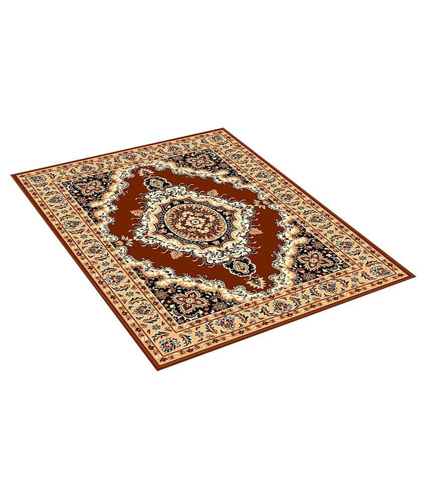 Furnishingland Multi Wool Carpet Ethnic 4x6 Ft.