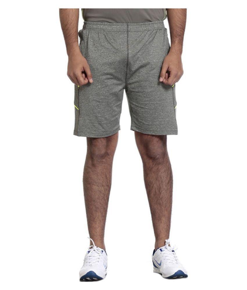 Seven Grey Polyester Short