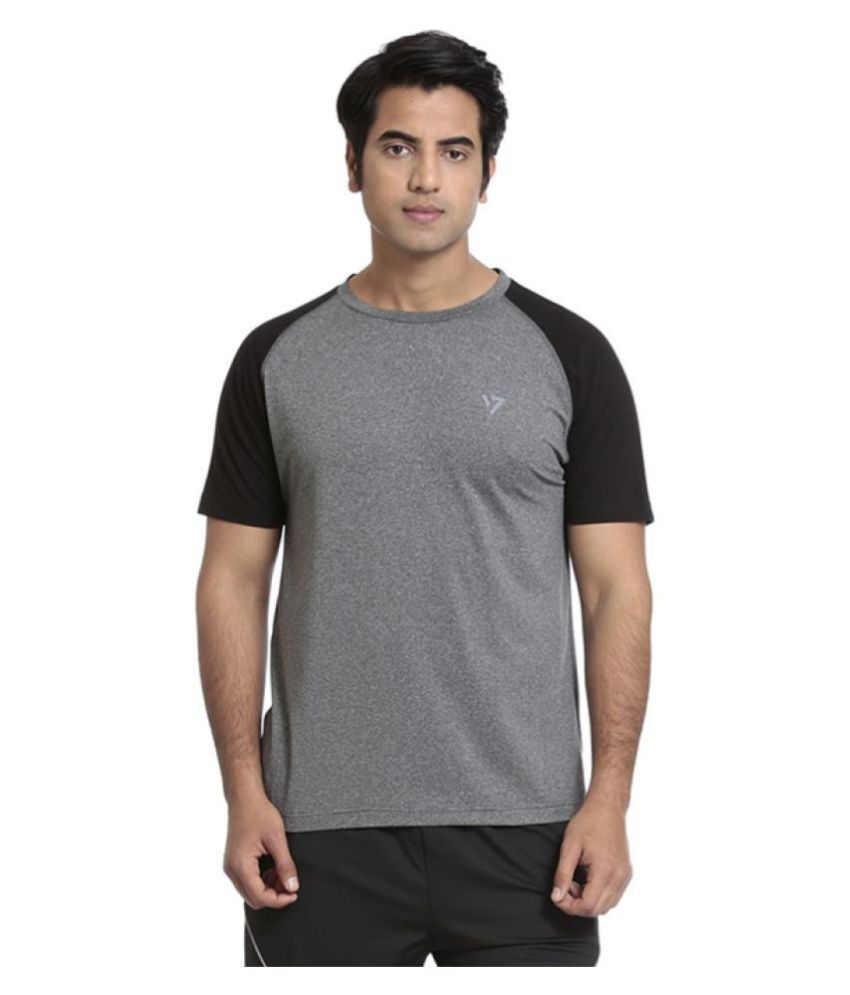 Seven Grey Polyester T-Shirt
