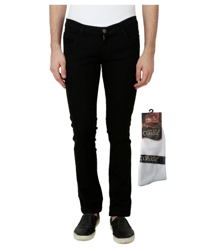 Haltung Black Slim Solid Jeans