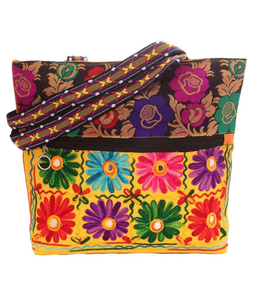 Jaipuriart Multi Fabric Tote Bag