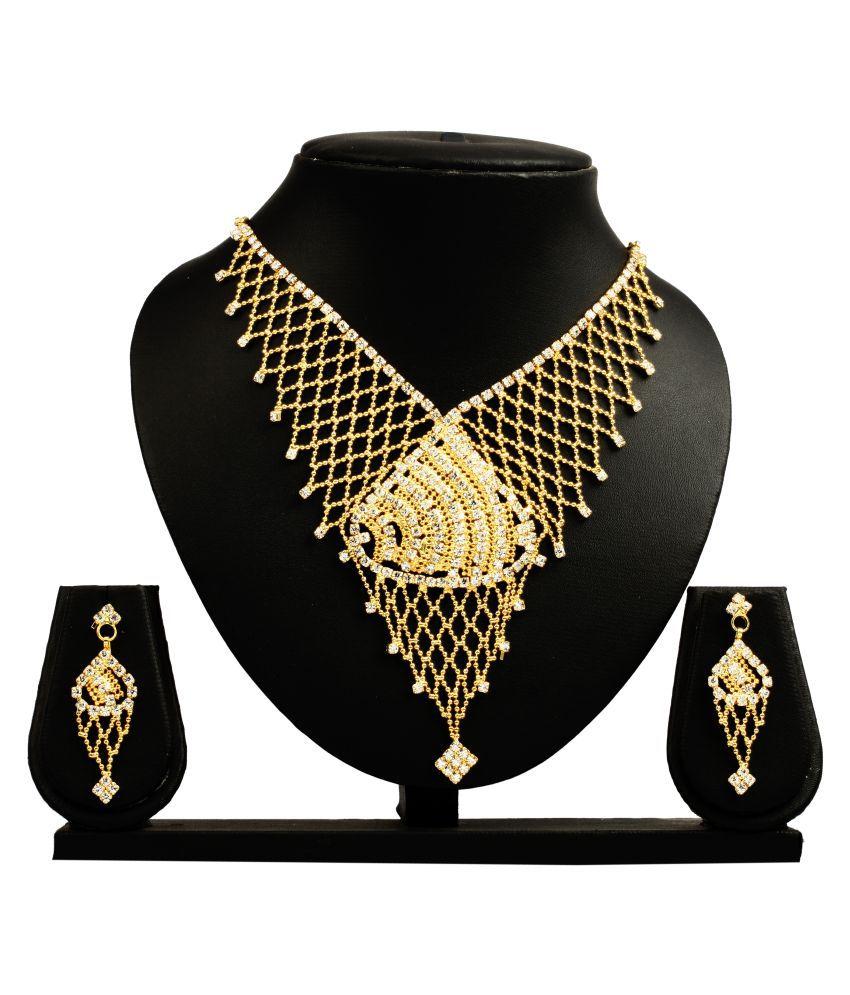 Bahucharaji Creation Golden Necklace Set