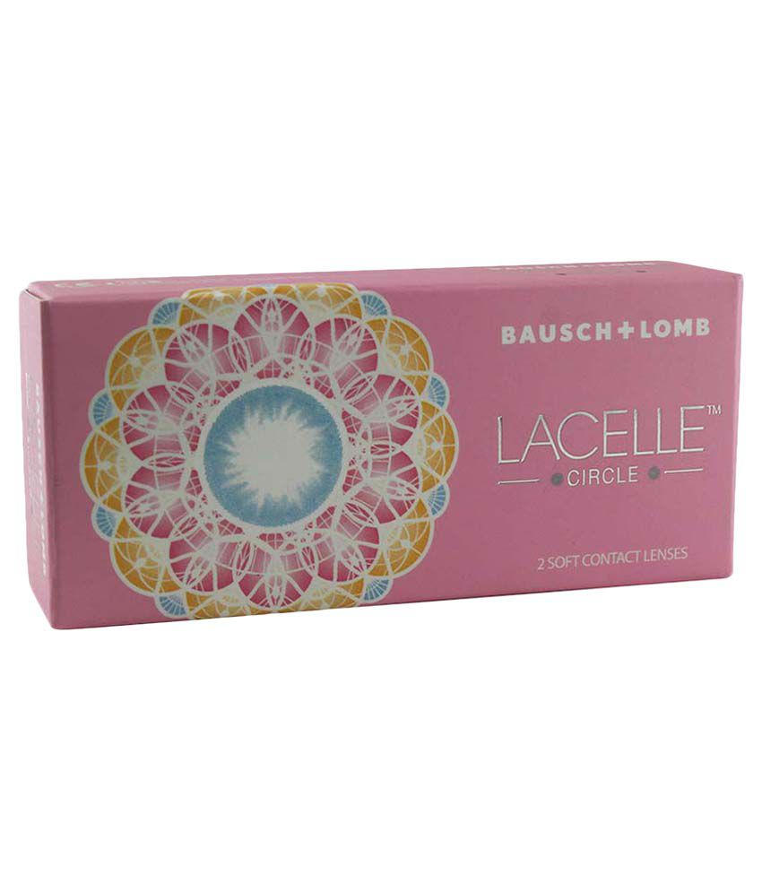 Bausch & Lomb B&L_LacelleCircleAqua_-1.75 Colored Monthly Disposable Contact Lenses