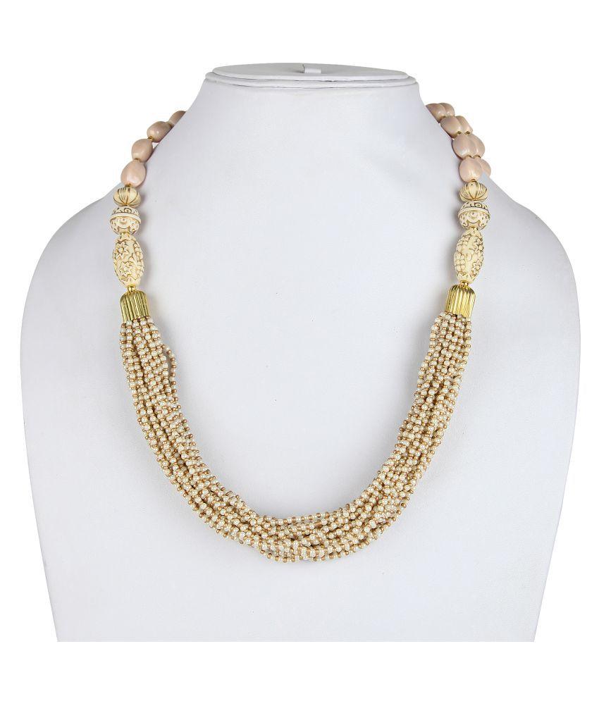 DCA Beige Acrylic Necklace