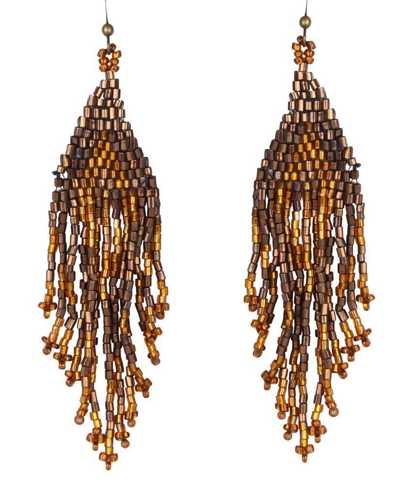 DCA Brown Chandelier Earrings