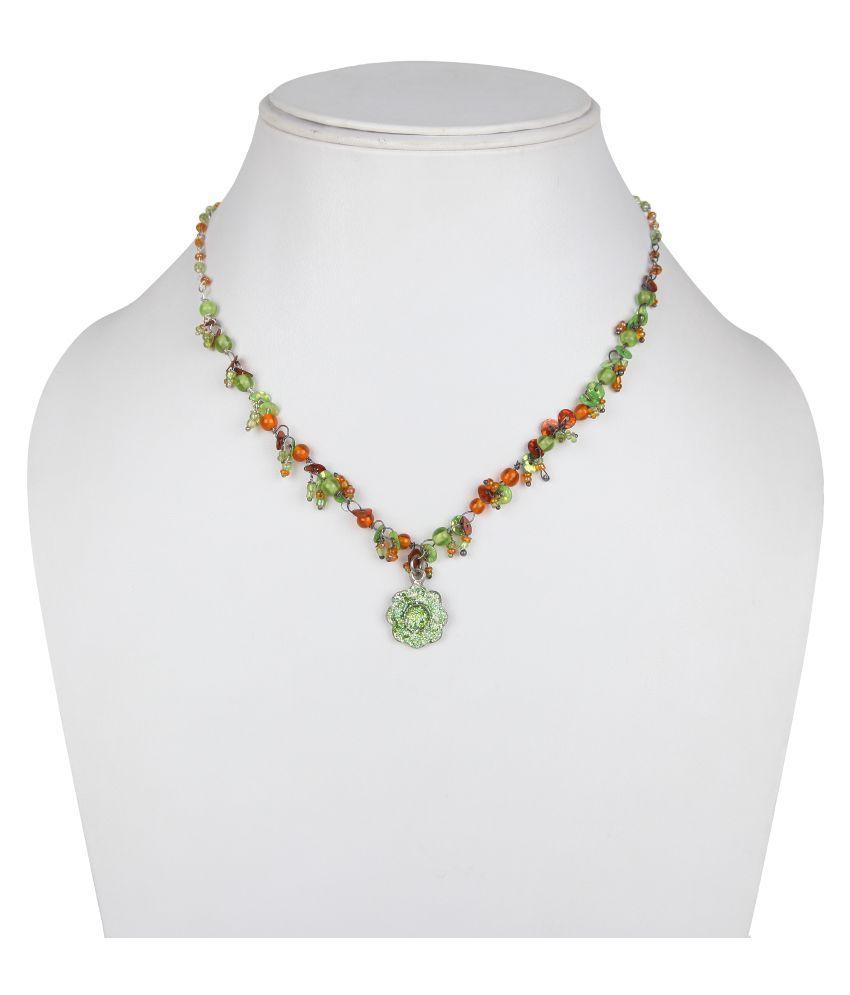 DCA Multicolour Brass Necklace