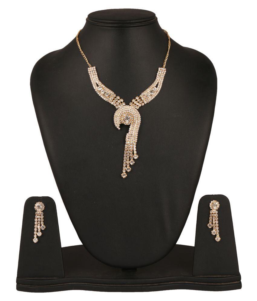 Fanvi Golden Necklace Set