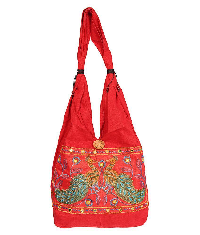 Jaipuriart Red Fabric Jhola
