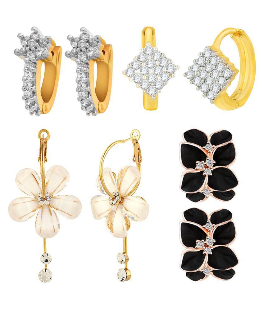 Jewels Galaxy Multicolour Earrings Combo