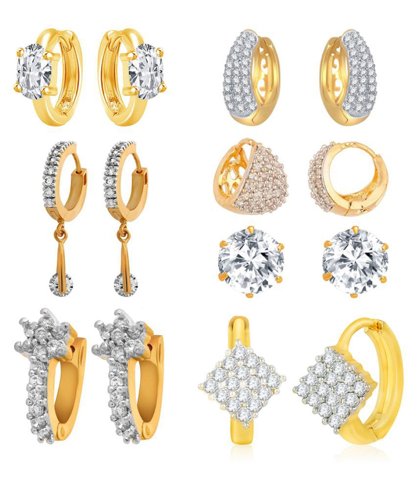 Jewels Galaxy Silver Earrings Combo