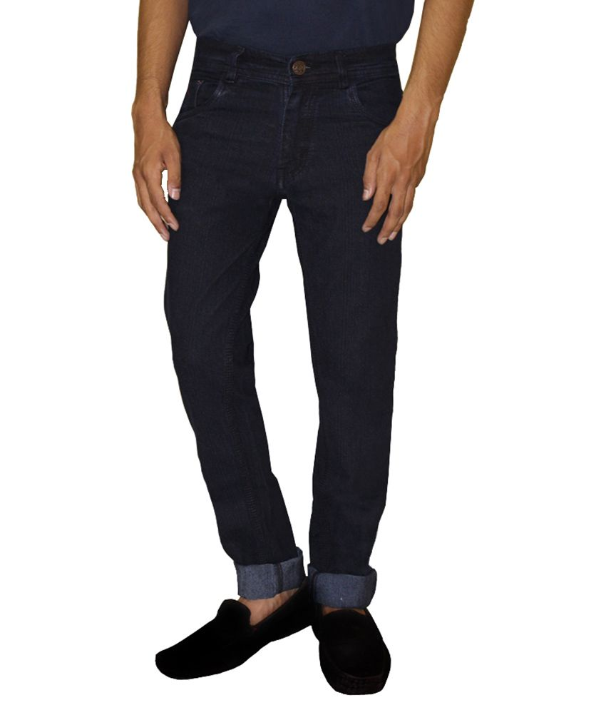 Home Fashion Gallery Navy Slim Solid Jeans