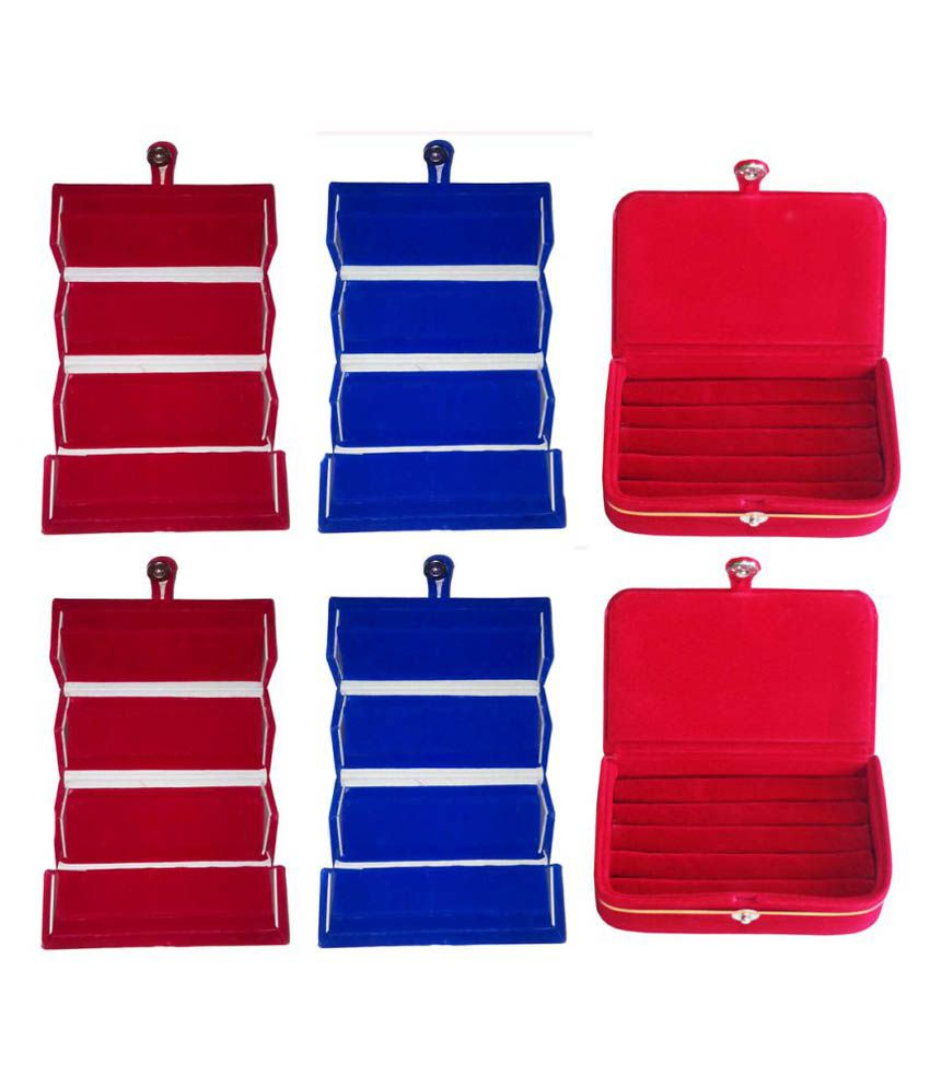 Abhinidi Multicolor Ring Box - Pack of 6